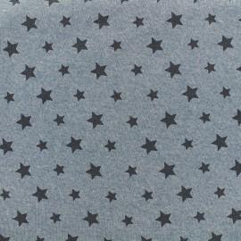 Tissu sweat Petite étoile - denim x 10cm
