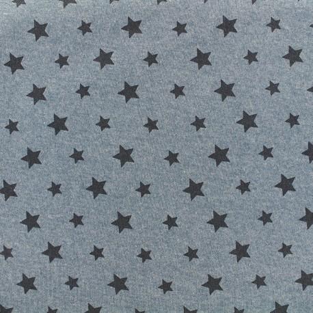 Sweat fabric Petite étoile - denim x 10cm