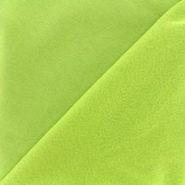Tissu sweat - citron x 10cm