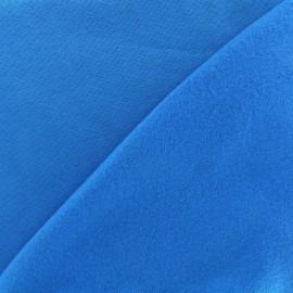 Tissu sweat - bleu profond x 10cm