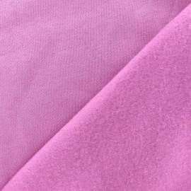 Tissu sweat - rose lilas x 10cm