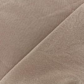 Tissu sweat - brun clair x 10cm