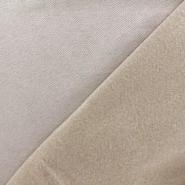 Tissu sweat - sable clair x 10cm