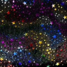 Fourrure Starlight - multicolore x 10cm