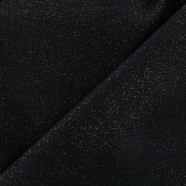 Sequined linen fabric - black x 10cm