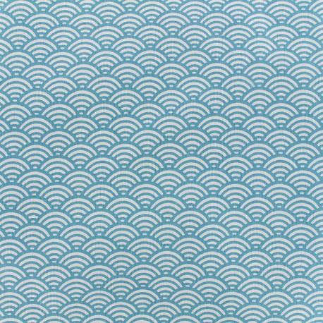 Cretonne Cotton Fabric Sushis - teal x 10cm
