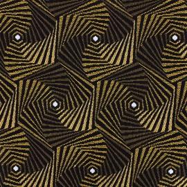 Tissu jacquard tissé Spiro - or x 10cm