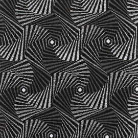 Tissu jacquard tissé Spiro - argent x 10cm