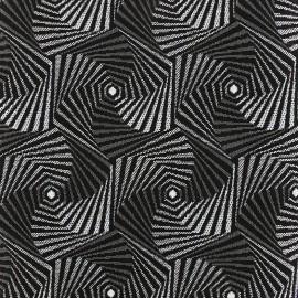 Woven jacquard canvas Spiro - silver x 10cm