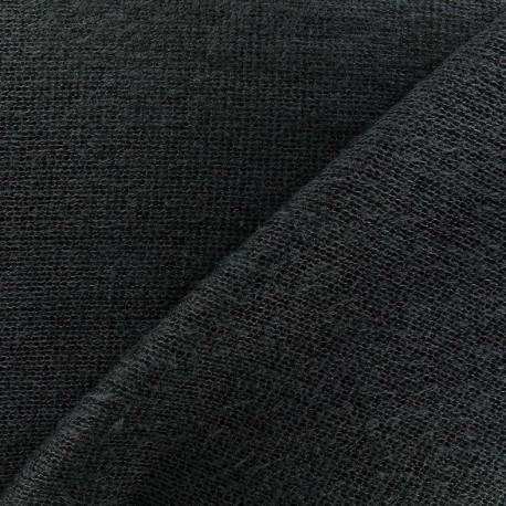 Light stitched wool fabric  - anthracite x 10cm
