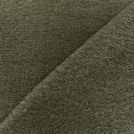 Tissu Maille tricot léger - kaki x 10cm