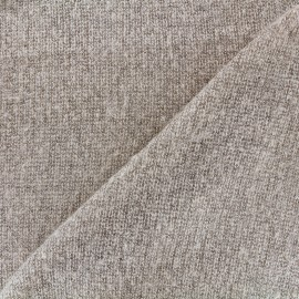 Tissu Maille tricot léger - sable clair x 10cm