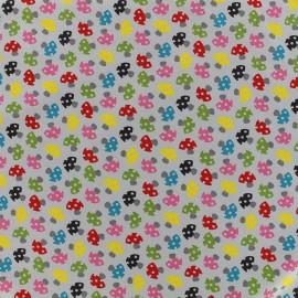 Tissu jersey Poppy Toadstools - gris x 10cm