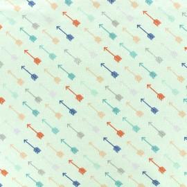 Tissu jersey Poppy Céleste arrow - vert d'eau x 10cm