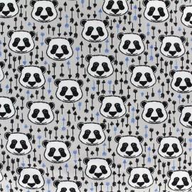 Poppy jersey fabric Bamboo Bear - grey x 10cm