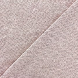 Tissu Maille viscose lurex Party rose clair x 10cm