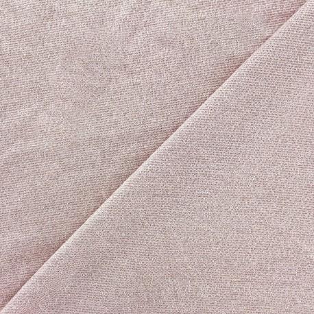 Tissu Maille viscose lurex Party rose clair x 10cm