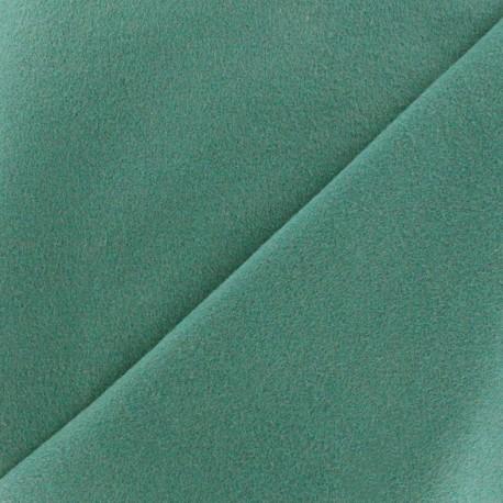 Tissu drap manteau bleu paon x 10cm ma petite mercerie - Tissu pour drap ...