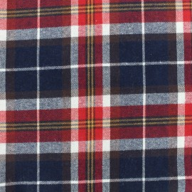 Cotton tartan fabric Scoltand - navy/red x 10cm