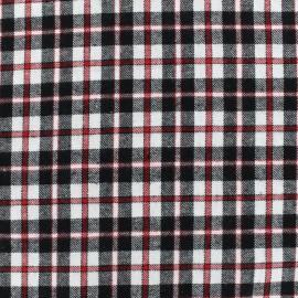 Tissu coton tartan Roslin - noir/rouge x 10cm