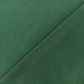Tissu jersey crêpe - vert foncé x 10cm