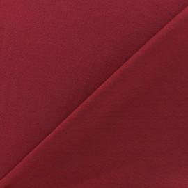 Tissu jersey crêpe - bordeaux x 10cm