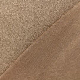 Crepe jersey fabric - light brown x 10cm