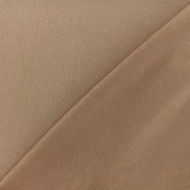 Tissu jersey crêpe - brun x 10cm
