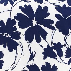 Tissu Gabardine Lycra légère Blossom - marine x 10cm