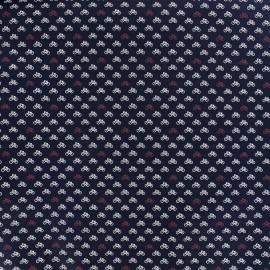 Tissu popeline Mini Bicycle - navy x 10cm