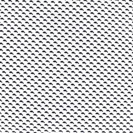 Tissu popeline Mini Whales - blanc x 10cm