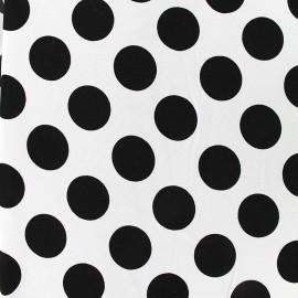 Tissu crêpe Big dots - écru x 10cm