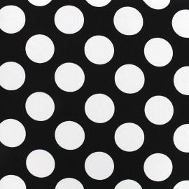 Tissu crêpe Big dots - noir x 10cm
