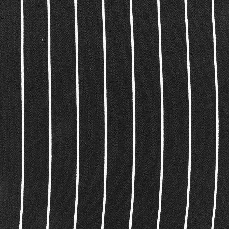 Crepe Fabric White Stripes Black X 10cm Ma Petite Mercerie
