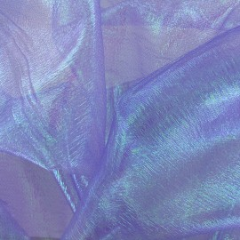 Iridescent organza Sirène fabric - light purple x 50cm
