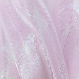 ♥ Coupon 200 cm X 130 cm ♥  Iridescent organza Sirène fabric - pink