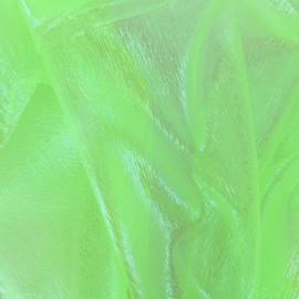 ♥ Coupon 150 cm X 130 cm ♥ Iridescent organza Sirène fabric - light green