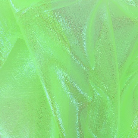 Iridescent organza Sirène fabric - light green x 50cm