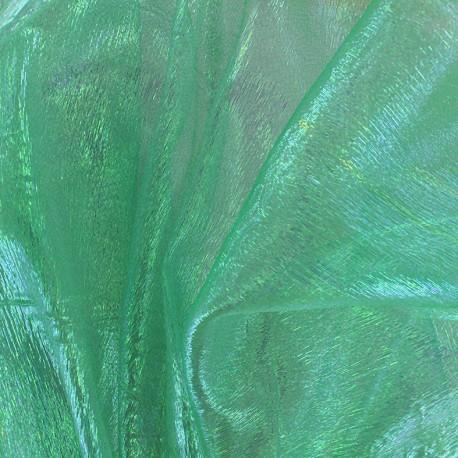Iridescent organza Sirène fabric - green x 50cm