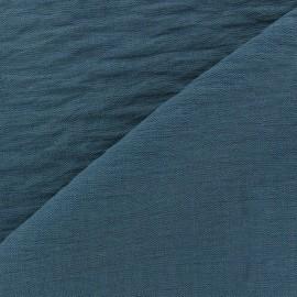 Tissu viscose froissé - bleu pétrole x10cm
