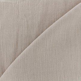 Tissu crépon - beige clair x 10cm