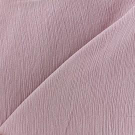 Tissu crépon - vieux rose x 10cm