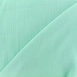 Tissu crépon - menthe glacée x 10cm