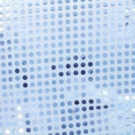 Tissu paillettes 6mm - ciel x 10cm