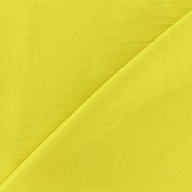 ♥ Only one piece 50 cm X 140 cm ♥ Crinkled Viscose Fabric - english mustard