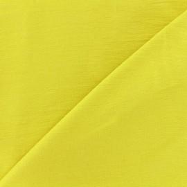 Tissu viscose froissé - moutarde anglaise x10cm