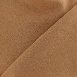 Tissu viscose - tabac x10cm