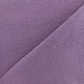 Tissu viscose froissé - violet x10cm