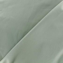 Tissu Gabardine Lycra satiné - vert de gris x 10cm