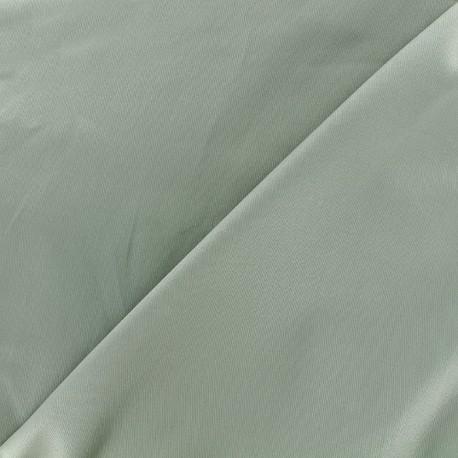Satiny Lycra Gabardine Fabric - green grey x 10cm